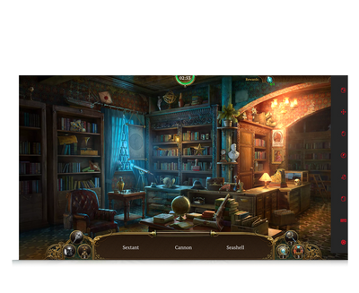 Paranormal Society eye gaze game haunted mansion screenshot