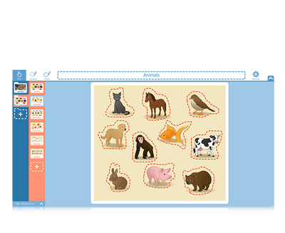Tobii Dynavox Snap Scene animal learning