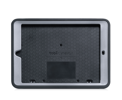"Tobii Dynavox Speech Case 10.2"" without iPad showing snap on faceplate"