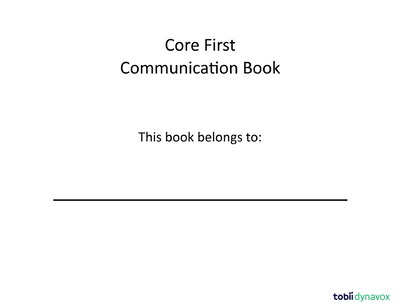 Core First Communication Book cover page