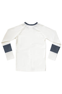 Folpetto Oscar Rashguard in Ivory and Pebble