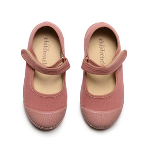 Childrenchic Canvas Mary Jane Captoe Sneaker in Rosewood