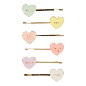 Meri Meri Love Heart Hair Slides