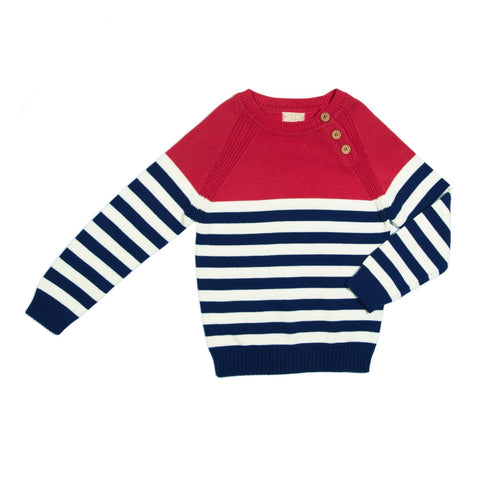 EGG Red Stripe Eli Sweater
