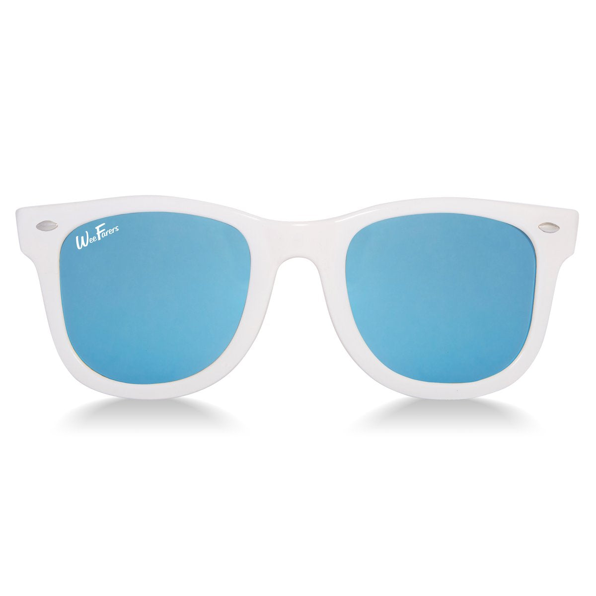 WeeFarer Polarized White Sunglasses with Blue Lens