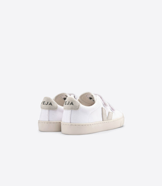 Veja Small Esplar Canvas Sneaker, White Natural