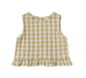 Rylee + Cru Gingham Leonie Top Butter
