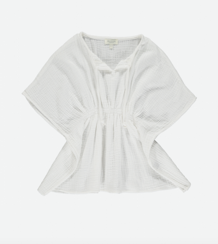 Olivier London Beach Cover Up - White Muslin