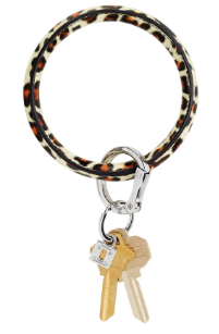 Oventure Leather Key Ring- Cheetah