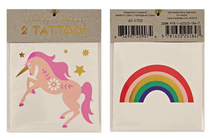 Meri Meri Unicorn & Rainbow Tattooos