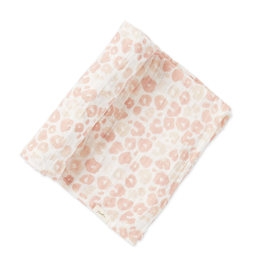 Pehr Swaddle Blanket in Poppy Blush