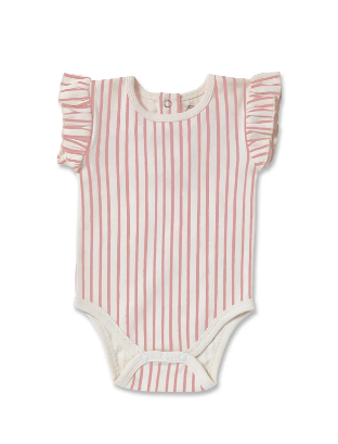 Pehr One-Piece Stripes Away- pink