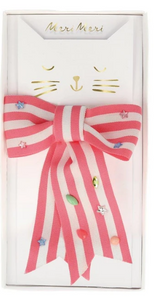 Meri Meri Pink Stripe Bow Hair Clip