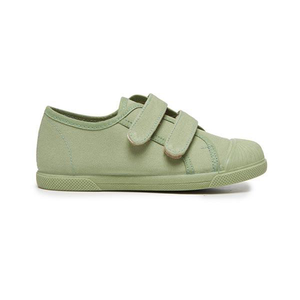 Childrenchic Double Hook and Loop Sneakers in Leaf