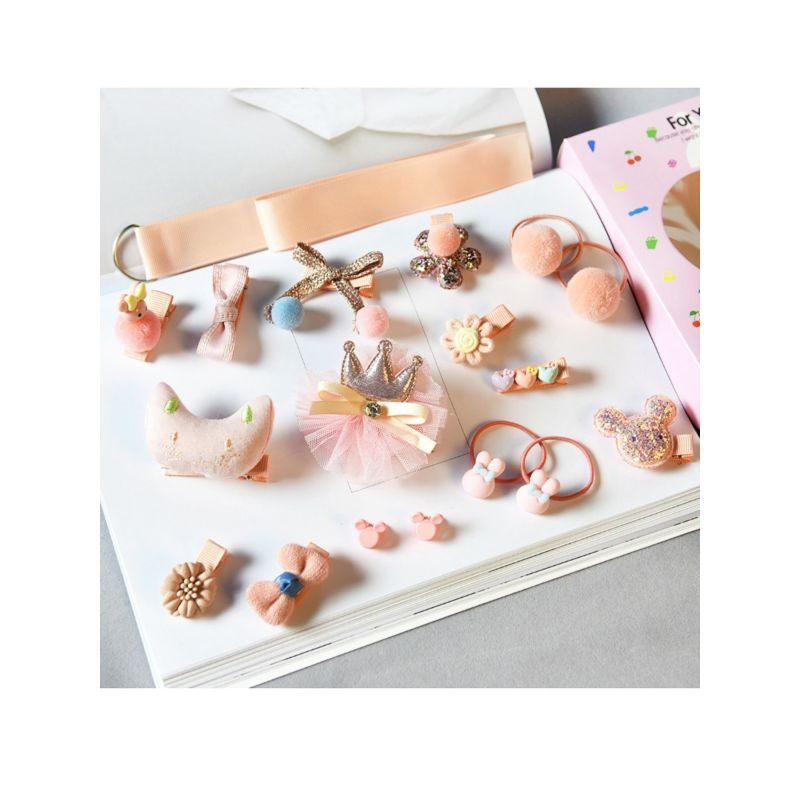 Assorted Pink Hair Clips
