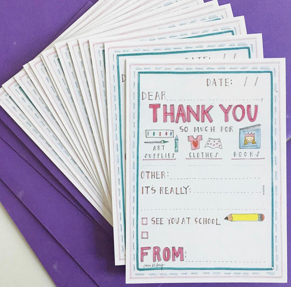 Thank You Notes - Set of 12