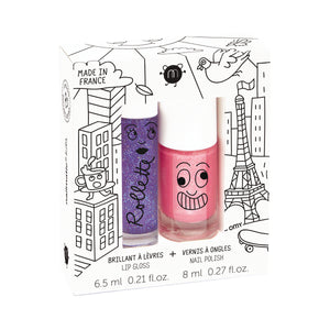 Nailmatic Lovely City Duo Set of Lip Gloss and Kitty Nailpolish