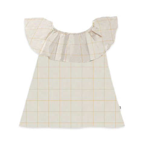 Oeuf Ruffle Collar Dress