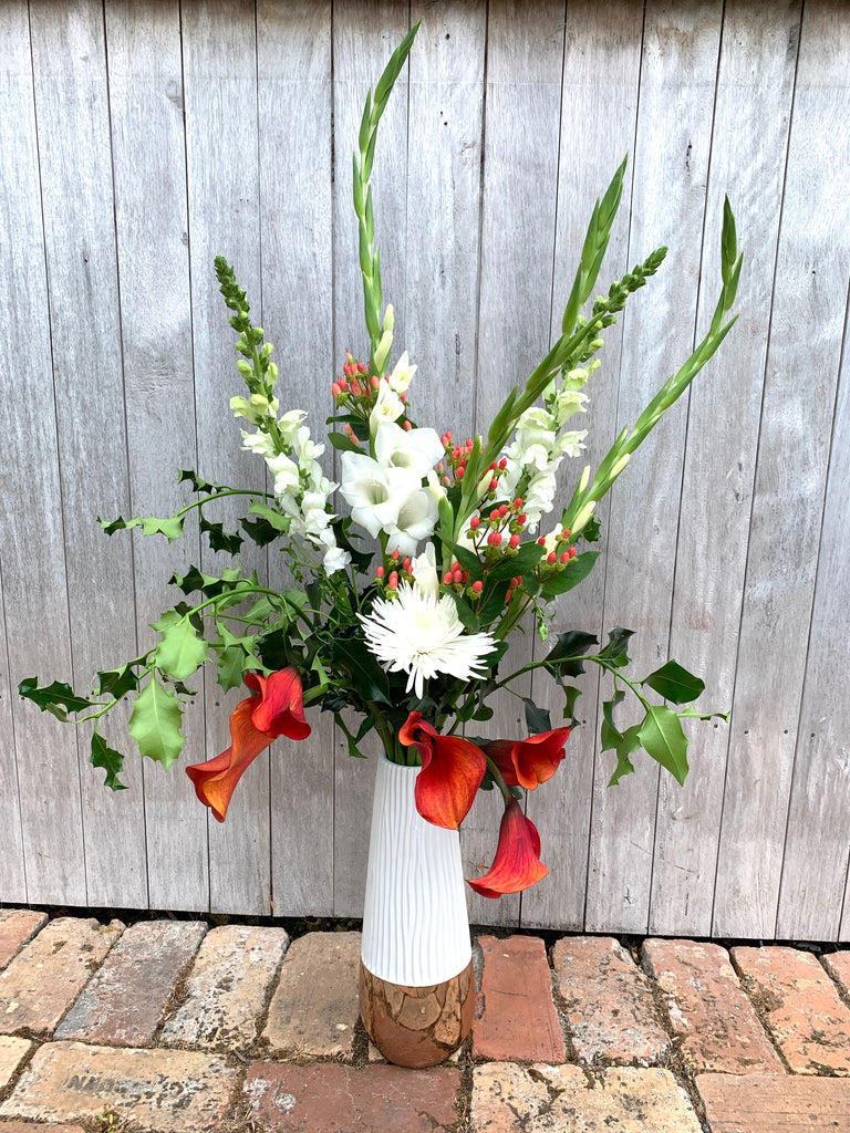 Pretty Christmas Vase Arrangement