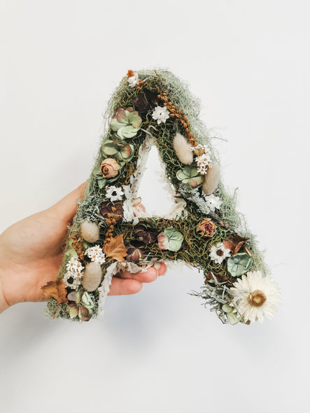 Dried Floral letters