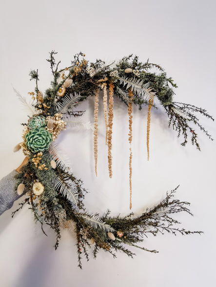 Large Crescent Moon wreath (pre-order)