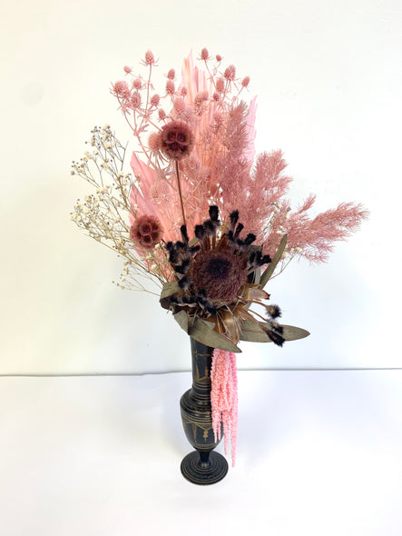 Burgundy & pinks in a vintage vase