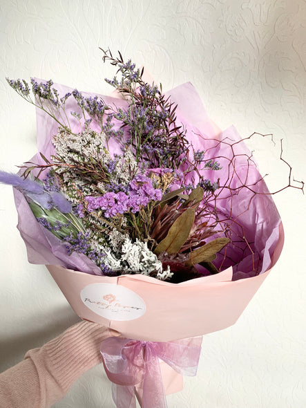Lilac dried bouquet