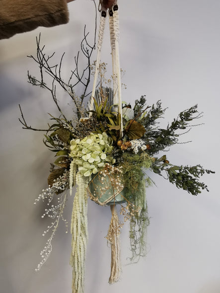 Dried macramé hanging