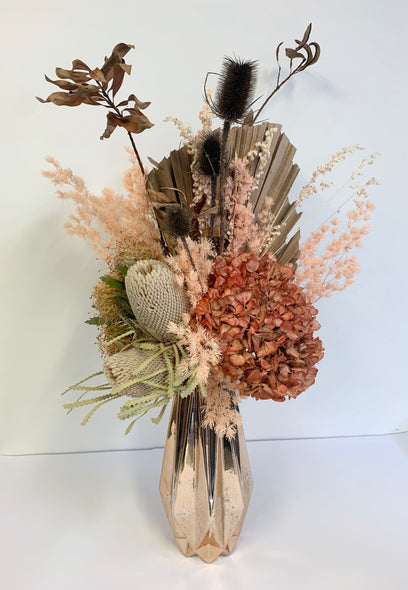 Peachy Hues dried arrangement