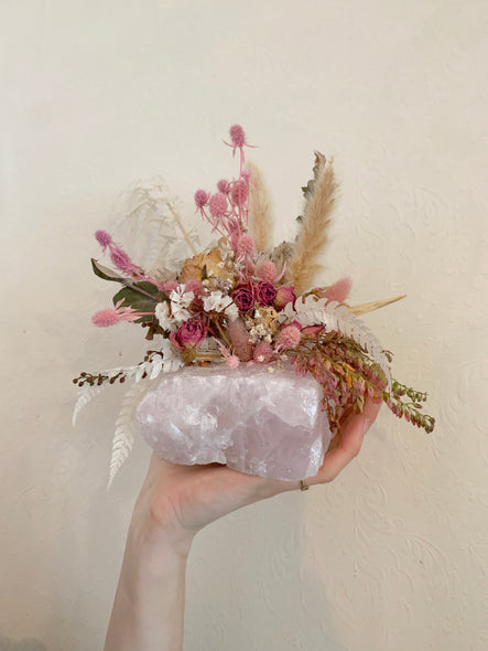 Rose Quartz Dried Arrangement