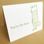 Cat's Pajamas Greeting Card