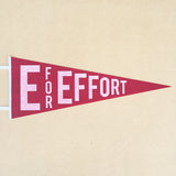 E for Effort Pennant