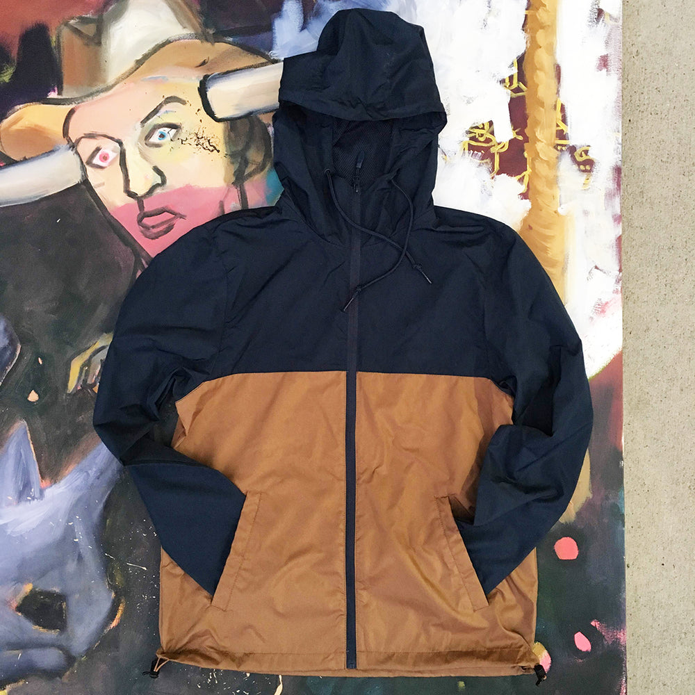 Hooded Color-Block Windbreaker