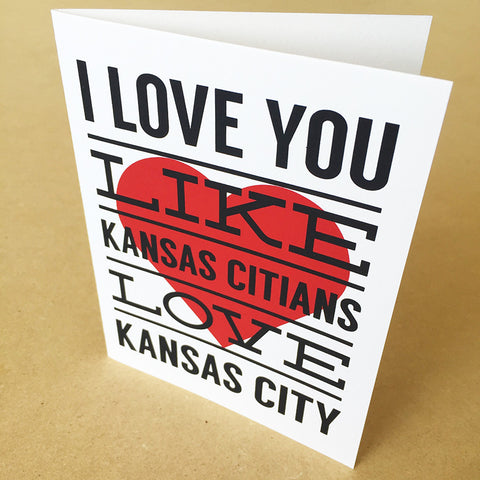 KC Love Greeting Card
