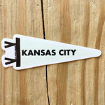 Kansas City Pennant Sticker