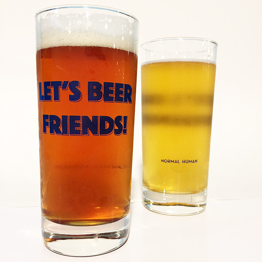 Let's Beer Friends Glass