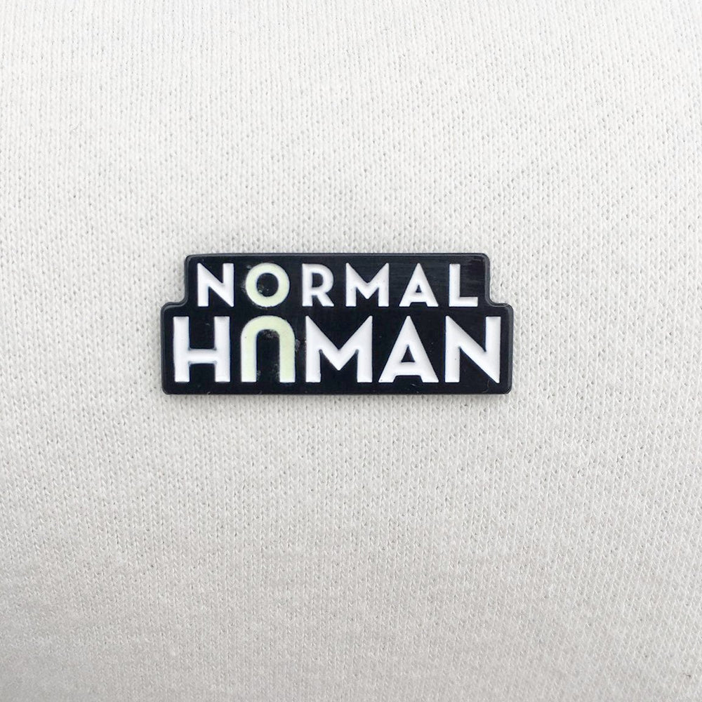Normal Human Glow-in-the-Dark Pin - Numbered Edition