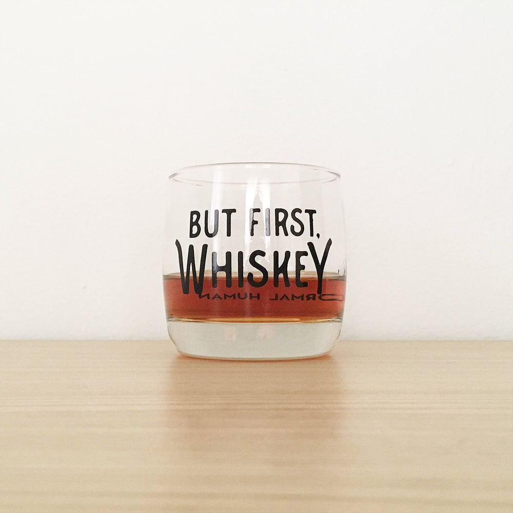 But First, Whiskey 9oz Rocks Glass