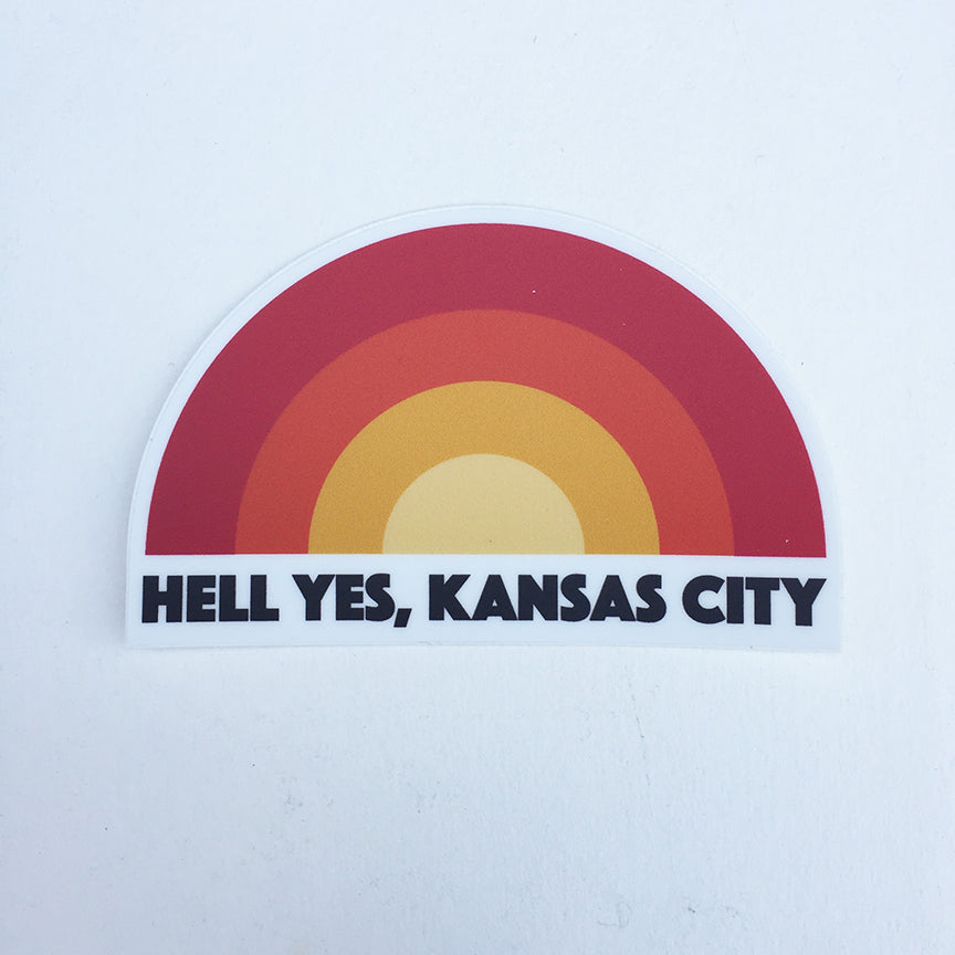 Hell yes kansas city sticker
