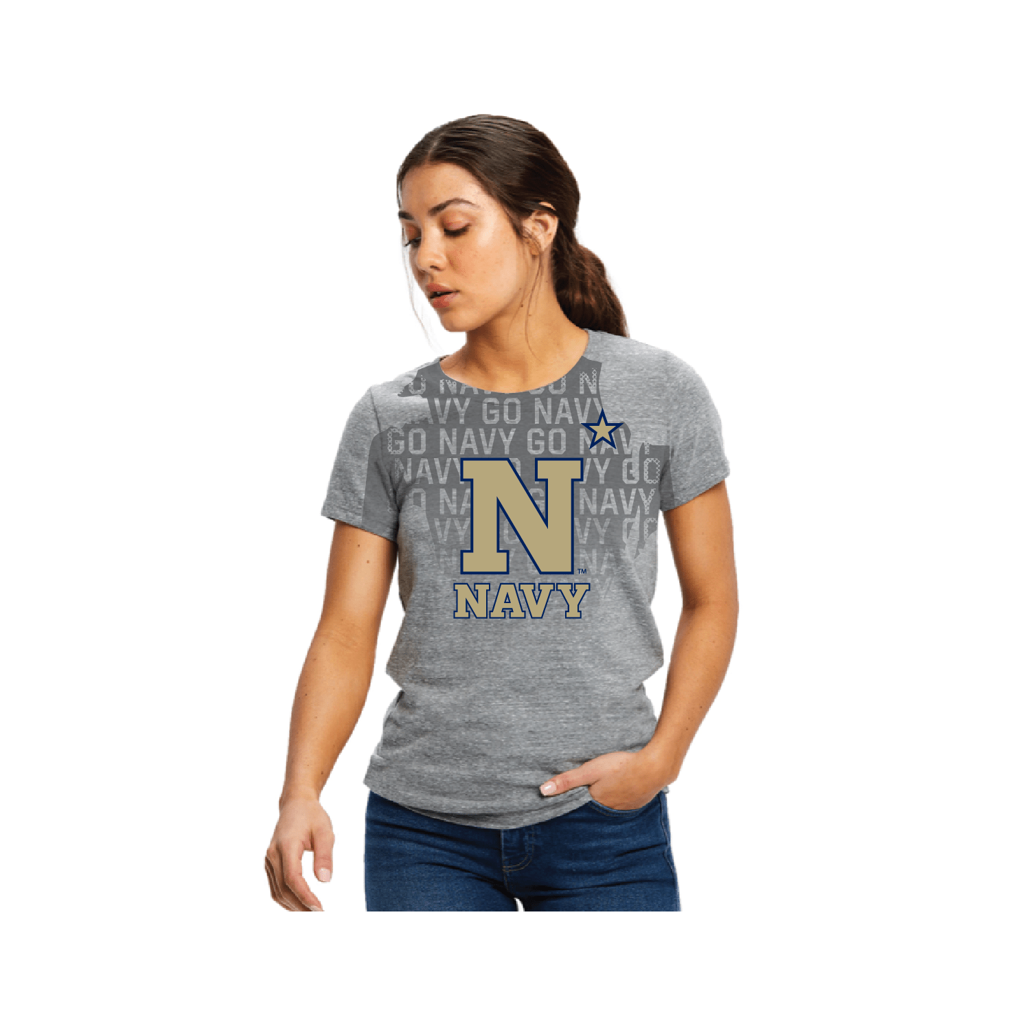 Women's Go Navy - Beat Army Sweat Activated Tee