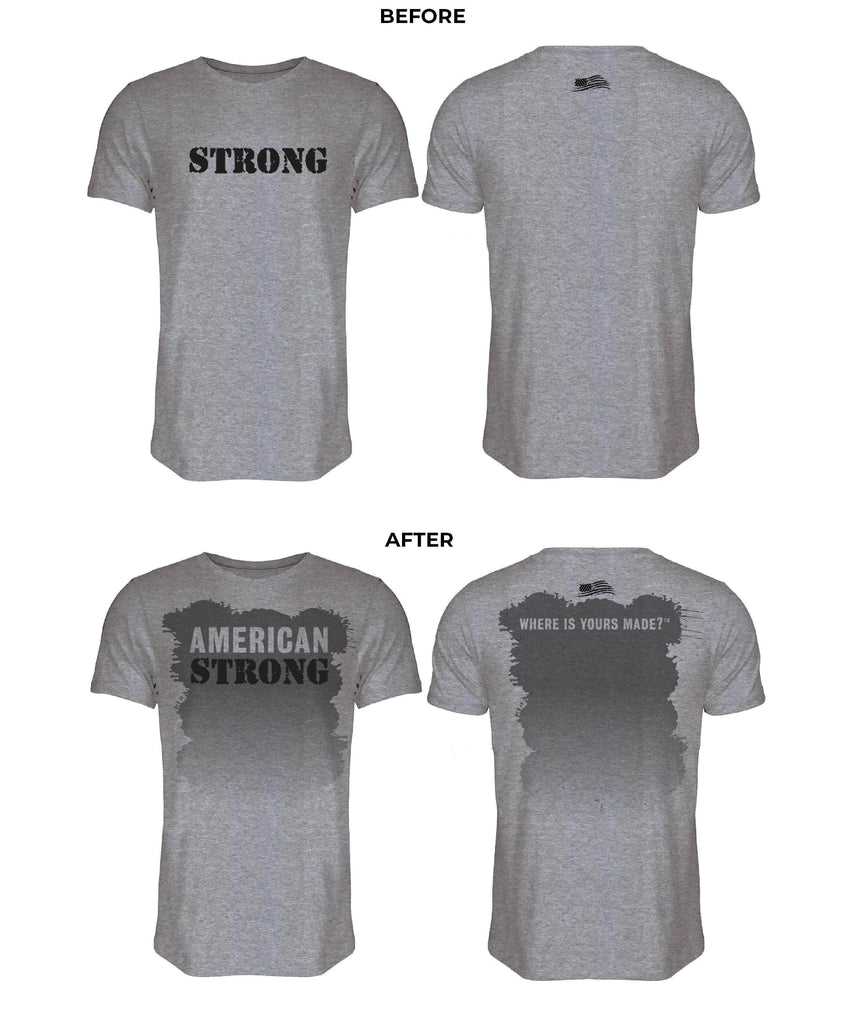 American Strong Sweat Activated Tee Sweat Tee Authentically American LLC XL
