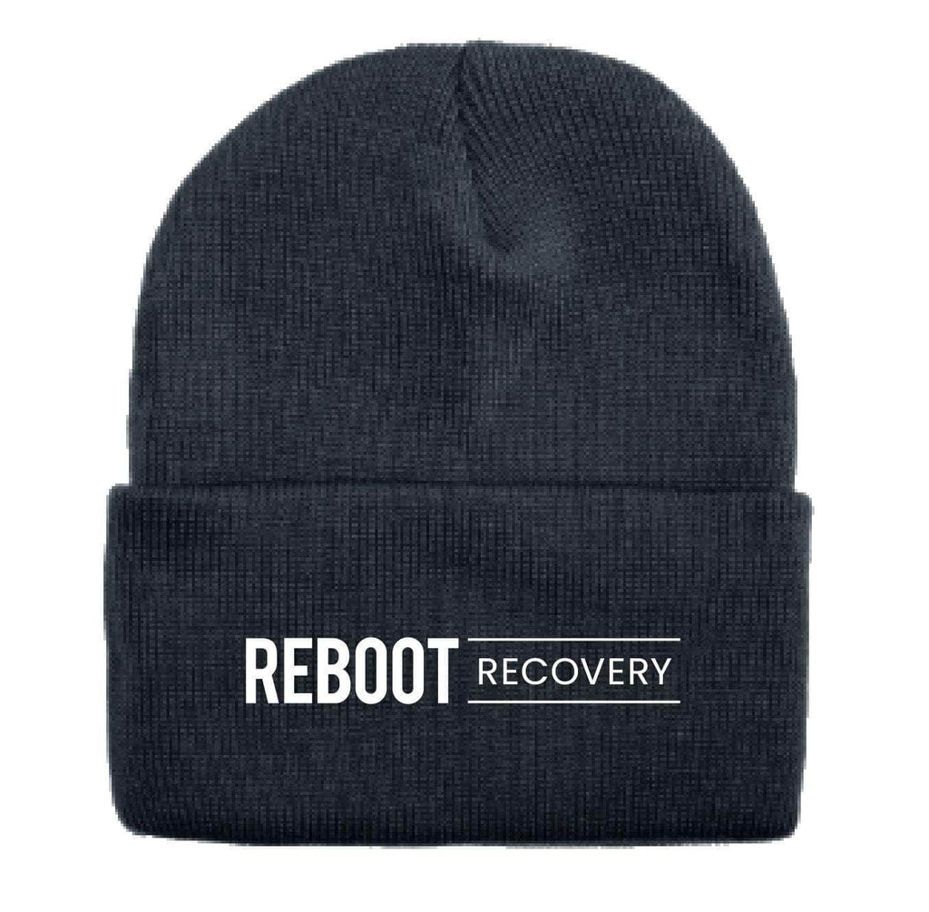 REBOOT Recovery Beanie With Cuff Beanie Authentically American LLC OSFM Black