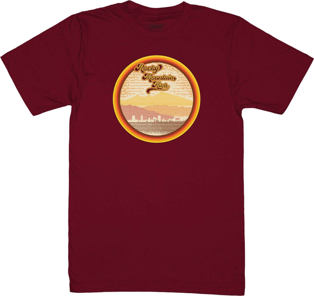 Retro-Phit Rocky Mountain High Tee T-Shirts RetroPhit S Pomegranate