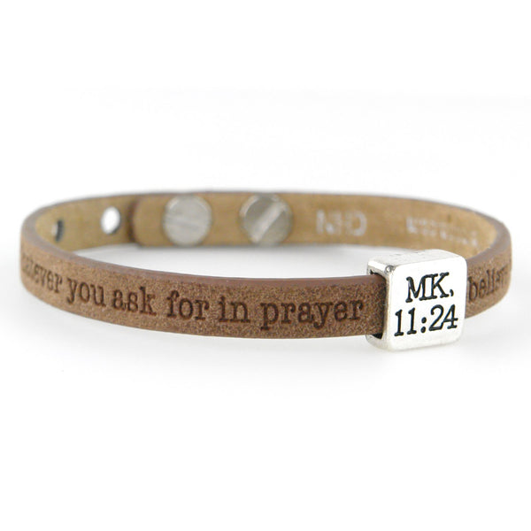 Answered Prayer Mark 11:24 Single Bracelet