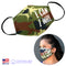 100% COTTON MADE IN THE USA I CAN I WILL CAMOUFLAGE 3D FABRIC FACE MASK