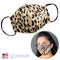 3D LEOPARD ( FAITH ) FABRIC FACE MASK