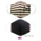 MADE IN THE USA FAITH MAROON STRIPED 3D FABRIC FACE MASK