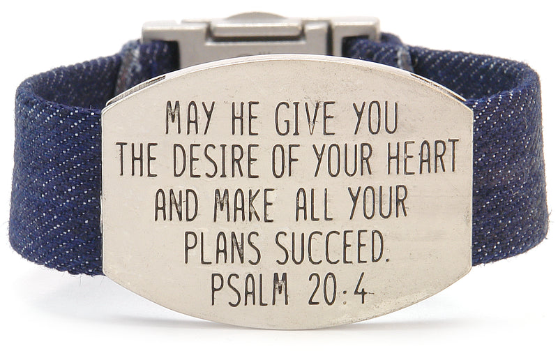 SERENE SINGLES - DENIM - SCRIPTURE