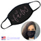 100% COTTON MADE IN THE USA FAITH WITH BUTTERFLY BLACK FABRIC FACE MASK