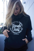 "PULL OVER HOODIE ""I CAN DO ALL THINGS"" PHIL 4:13 BLACK"